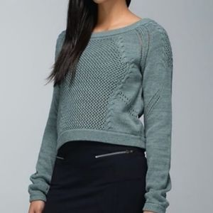 Lululemon be present knitted cropped sweater